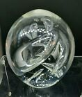 Karg Studio Art Glass Swirled Controlled Bubble Paperweight Signed Jim Karg WOW