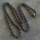 Unique Sterling Silver Fluted Ball Bead Chain Necklace 20