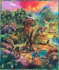 Robert Kaufman Picture This Dinosaur Panel Dino Boys Quilt Wall Hanging Finished
