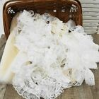 Lot of Vintage Modern Lace Trim  Remnant Pieces 36+ yards 18 Styles Dotted Net