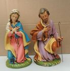 VINTAGE NATIVITY MARY AND JOSEPH ITALY COMPOSITION LARGE 10