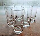 Mid Century Modern MCM Etched ATOMIC STAR Drinking Glasses Tumblers Set of 6