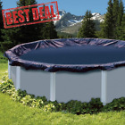 24 Foot Round Above Ground Swimming Pool Leaf Net Cover for Winter Cover Black
