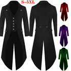 Men Retro Tailcoat Suit Gothic Steampunk Long Jacket Victoria Frock Coat Cosplay