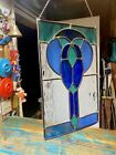 Blue Variants Sun Catcher Handmade Hanging Decoration Stained Glass