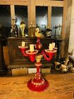 Large Handblown Murano Glass Candleabra Table Lamp By Barovier  Toso