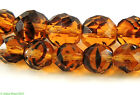 Translucent Faceted Beads Amber Color Africa