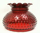 7 Fitter Ruby Red Glass Hobnail Crimp Top Student Lamp Replacement Shade Rayo