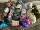 Hand Dyed Worsted Yarn Lot Of 7 Various Dyers Spun Right Round Farmers Daught