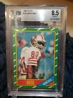 *JERRY RICE* 1986 Topps #161 *BGS 8.5* RC Rookie