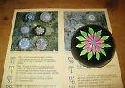 Vintage Perthshire Millefiori Pink Clematis Flower Art Glass Paperweight P Cane