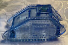 World War I 1920 Blue Glass Tank Military Candy Container