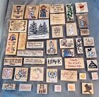 SUPER CUTE Lot of 41 Wooden Rubber Stamps Precious Moments n MORE