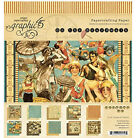 Graphic 45 ON THE BOARDWALK 8 x 8 Paper Pad 8x8 inch Vintage Beach Theme
