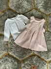 THE LITTLE WHITE COMPANY PINK CORDUROY LAYERED DRESS  TOP 15 2 YRS