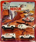 ROAD TOUGH DIE CAST METAL RESCUE SET UNOPENED HELICOPTER JEEP AMBULANCE CAR