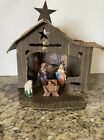 Vintage 1950s Manger Cardboard Nativity With Mary Joseph and Baby Jesus