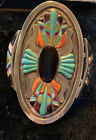exquisite sterling native american inlaid bracelet