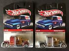 Hot Wheels Slick Rides Pennzoil Red  Silver Convoy Customs Damaged Cards