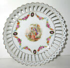 ANTIQUE ART DECO DRESDEN LOVERS PORTRAIT 1920's  RETICULATED BOWL GERMANY  7.5