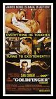 GOLDFINGER * CineMasterpieces 3SH ORIGINAL MOVIE POSTER 1964 JAMES BOND LINEN