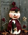 PATTERN Primitive Santa Doll Snowman with Star Ornies