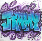 Airbrushed Graffiti Freestyle Personalized T Shirt in Any Size or Color Design