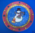 Sango Sweet Shoppe Christmas Red Border 1 Salad Plate Snowman Sue Zipkim