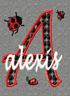 NEW GIRL MONOGRAM FONT LADYBUGS EMBROIDERY DESIGNS