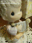 Precious Moments NATIVITY Joy to the World E5378 Boy Playing a Harp 1st mark