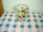 Vintage Glass Pitcher Rooster in Ivy pattern Fun Strutting