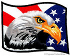 BALD EAGLE AMERICAN FLAG iron on EMBROIDERED PATCH USA PATRIOTIC applique EMBLEM