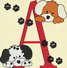 Puppy Dogs Monogram Fonts Machine Embroidery Designs CD