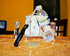 194 - AUTHENTIC OIL PAINTING by Ezi Algazi - Ballance Knife & bottle of water