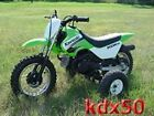 JR 50 JR50 KDX50 training wheels Suzuki KDX Kawasaki motorcycle