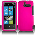 For Sprint HTC Arrive Rubberized Hard Phone Case Snap on Cover Rubber Hot Pink
