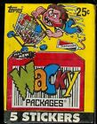 1990 Original Sealed packages  Wacky  Packages from Topps