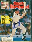 ALAN TRAMMELL Signed 1987 Sports Illustrated DETROIT TIGERS