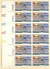 US 1710 Lindbergh Flight MNH block of 20 includes Plate Block of 12 zip block