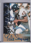 1997 SP AUTHENTIC GALE SAYERS AUTO. CHICAGO BEARS HOF