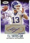 T.J. YATES 2011 RC AUTO SAGE HIT #ABT 30 BIG TIME INTELLIGENCE 24 100