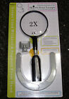 RDGTOOLS HANDS FREE MAGNIFIER 2X & 4X WITH 2 LED LIGHTS AND BASE