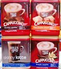 Hills Bros. Instant Cappuccino Coffee Latte Powdered Drink Mix ~ One Canister
