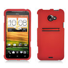 For Sprint HTC EVO 4G LTE Rubberized HARD Protector Case Snap On Phone Cover Red