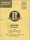 T OLIVER SHOPE MANUAL SERIES SUPER 99,950,990,995,770 AND 880 CHANGES