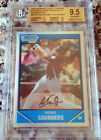 MICHAEL SAUNDERS 2007 Bowman Chrome Refractor Rookie RC BGS 9.5 GEM Mariners