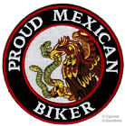 PROUD MEXICAN BIKER embroidered PATCH iron on MEXICO EAGLE FLAG MOTORCYCLE LOGO