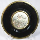 DECORATIVE  VINTAGE CHOKIN 24 K GOLD EDGE TWO BIRDS PLATE 10 1/4 INCHES