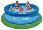 Intex Easy Set 10 x 30 Foot Above Ground Inflatable Round Swimming Pool Blue