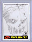 MARS ATTACKS TOPPS HERITAGE SKETCH JESSICA HICKMAN
